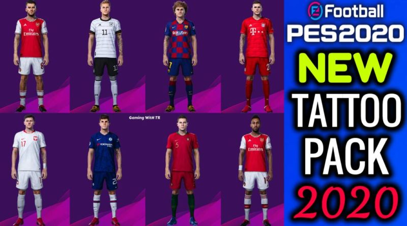 PES 2020 | NEW TATTOO PACK 2020 | CPK VERSION | DOWNLOAD & INSTALL