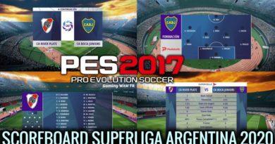 PES 2017 | NEW SCOREBOARD 2020 | SUPERLIGA ARGENTINA 2020 | DOWNLOAD & INSTALL