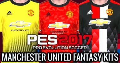 PES 2017 | MANCHESTER UNITED FANTASY KITS 2020 | DOWNLOAD & INSTALL
