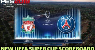 PES 2019   NEW UEFA SUPER CUP SCOREBOARD 2020   DOWNLOAD & INSTALL