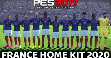 PES 2017 | FRANCE HOME KIT 2020 | DOWNLOAD & INSTALL