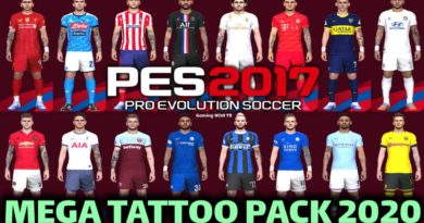 PES 2017 | MEGA TATTOO PACK 2020 | DOWNLOAD & INSTALL