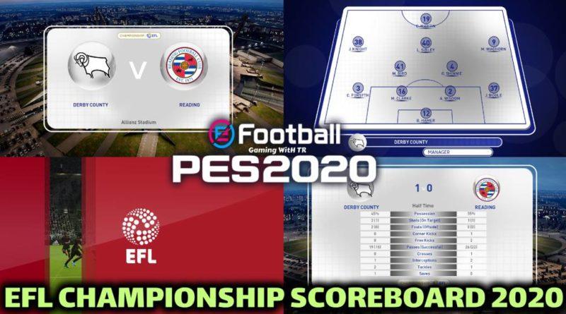 PES 2020 | EFL CHAMPIONSHIP SCOREBOARD 2020 | CPK VERSION | DOWNLOAD & INSTALL