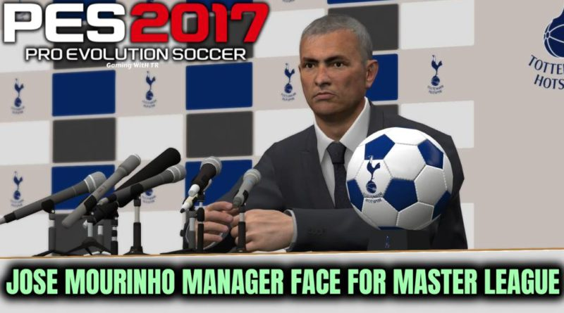 PES 2017 | JOSE MOURINHO | NEW MANAGER FACE FOR MASTER LEAGUE | DOWNLOAD & INSTALL