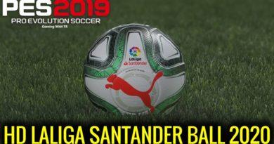 PES 2019 | HD LALIGA SANTANDER BALL 2020 | DOWNLOAD & INSTALL
