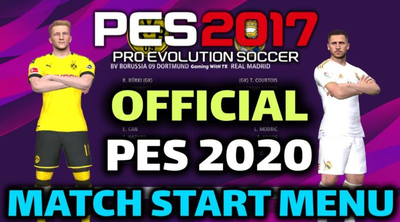 PES 2017 | OFFICIAL PES 2020 MATCH START MENU | DOWNLOAD & INSTALL
