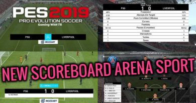 PES 2019 | NEW SCOREBOARD ARENA SPORT | CPK VERSION | DOWNLOAD & INSTALL