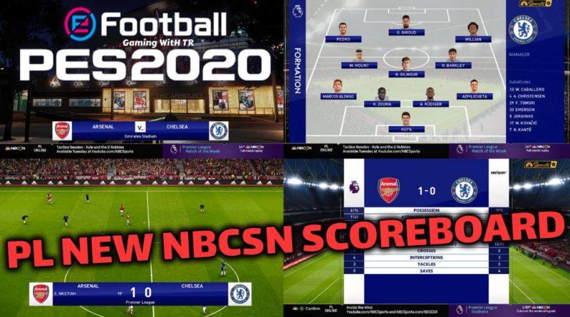 PES 2020 | PREMIER LEAGUE | NEW NBCSN SCOREBOARD | CPK VERSION | DOWNLOAD & INSTALL