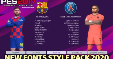 PES 2017 | NEW FONTS STYLE PACK 2020 | DOWNLOAD & INSTALL