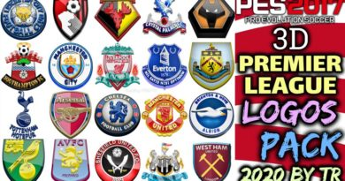 PES 2017 | 3D PREMIER LEAGUE LOGOS PACK 2020 BY TR | DOWNLOAD & INSTALL