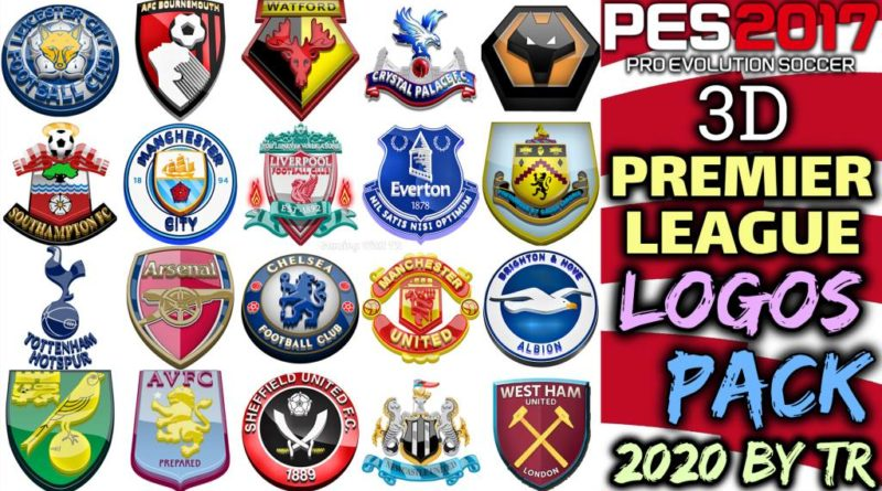 PES 2017   3D PREMIER LEAGUE LOGOS PACK 2020 BY TR   DOWNLOAD & INSTALL