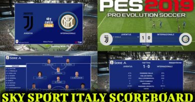 PES 2019 | SKY SPORT ITALY SCOREBOARD | DOWNLOAD & INSTALL