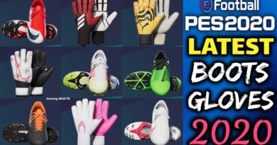 PES 2020 | LATEST BOOTS & GLOVES 2020 | ALL IN ONE V7 | DOWNLOAD & INSTALL
