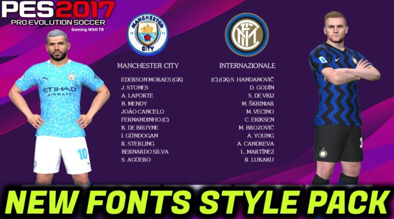 PES 2017 | NEW FONTS STYLE PACK | DOWNLOAD & INSTALL