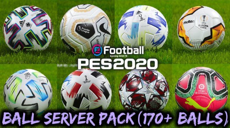 PES 2020 | BALL SERVER PACK | 170+ BALLS | VERSION 6 | DOWNLOAD & INSTALL