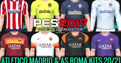 PES 2017 | ATLETICO MADRID & AS ROMA KITS 2020/2021 | UNOFFICIAL VERSION | DOWNLOAD & INSTALL