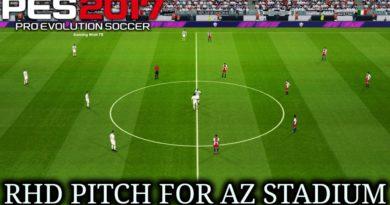 PES 2017 | RHD PITCH FOR AZ STADIUM | DOWNLOAD & INSTALL