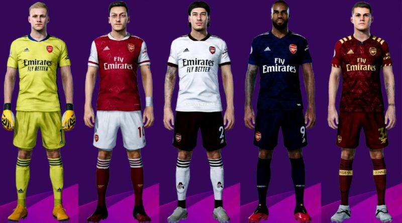 PES 2020 | ARSENAL KITS 2020/2021 | UNOFFICIAL VERSION | DOWNLOAD & INSTALL