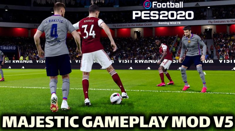 PES 2020 | NEW GAMEPLAY MOD | MAJESTIC V5 | DOWNLOAD & INSTALL