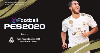 PES 2017   REAL MADRID GOLD PES 2020 GRAPHIC MENU   DOWNLOAD & INSTALL