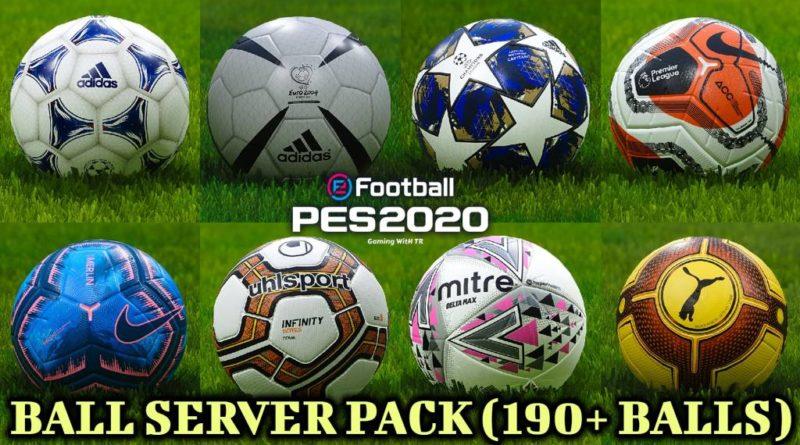 PES 2020 | BALL SERVER PACK | 190+ BALLS | VERSION 7 | DOWNLOAD & INSTALL