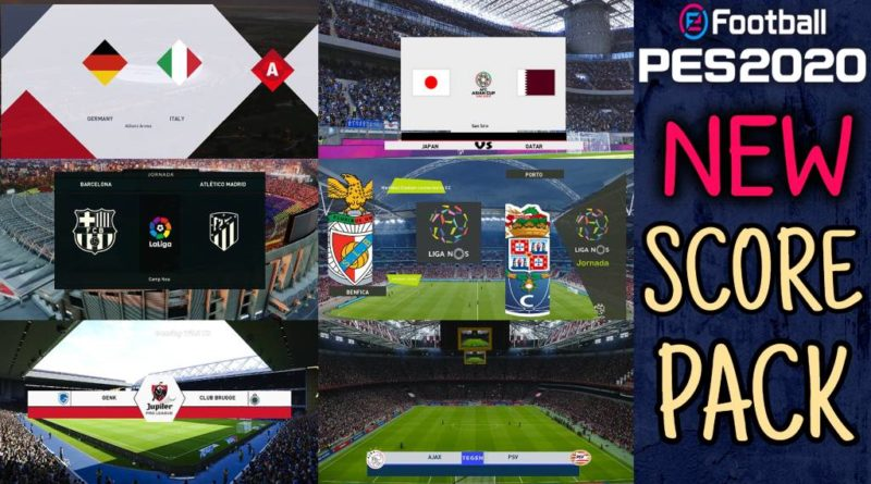 PES 2020 | NEW SCOREBOARD PACK | ALL IN ONE | DOWNLOAD & INSTALL