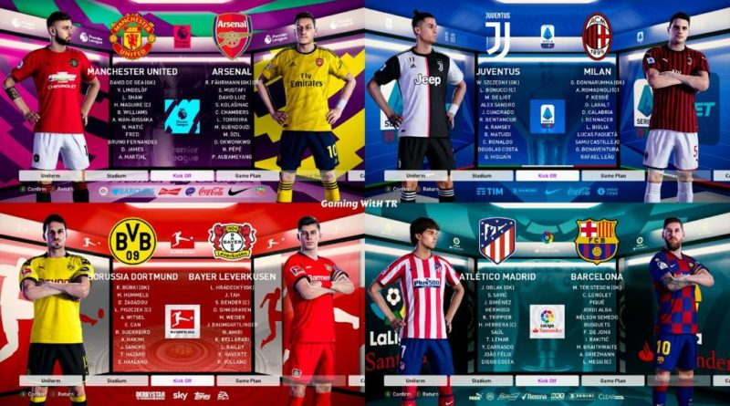 PES 2020   GRAPHIC MENU FOR TOP 5 LEAGUES   DOWNLOAD & INSTALL