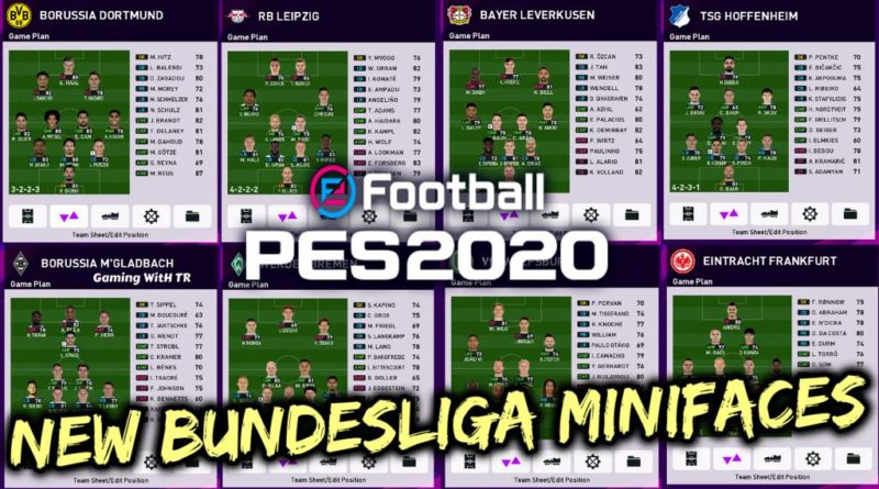 PES 2020 | NEW BUNDESLIGA MINIFACES | DOWNLOAD & INSTALL