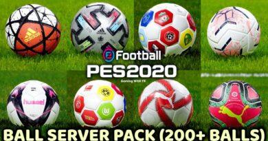PES 2020 | BALL SERVER PACK | 200+ BALLS | VERSION 9 | DOWNLOAD & INSTALL