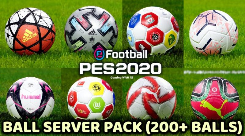 PES 2020 | BALL SERVER PACK | 200+ BALLS | VERSION 9 | DOWNLOAD & INSTALL