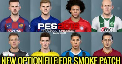 PES 2019 | NEW OPTION FILE | SMOKE PATCH | DOWNLOAD & INSTALL