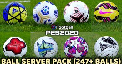 PES 2020   BALL SERVER PACK   247+ BALLS   VERSION 11   DOWNLOAD & INSTALL