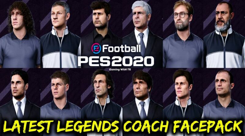 PES 2020 | LATEST LEGENDS COACH FACEPACK | ALL IN ONE V8
