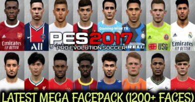 PES 2017 | LATEST MEGA FACEPACK | 1200+ FACES | DOWNLOAD & INSTALL