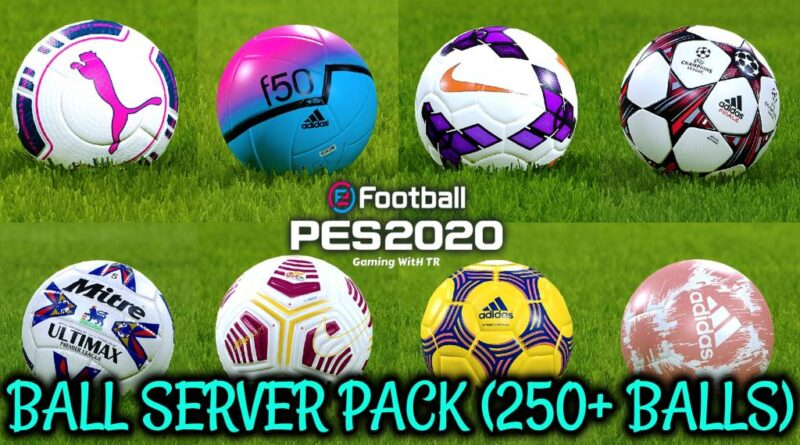 PES 2020 | BALL SERVER PACK | 250+ BALLS | VERSION 12 | DOWNLOAD & INSTALL