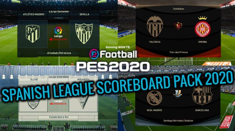PES 2020 | SPANISH LEAGUE SCOREBOARD PACK 2020 | DOWNLOAD & INSTALL
