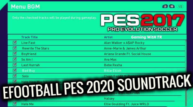 PES 2017 | EFOOTBALL PES 2020 SOUNDTRACK | DOWNLOAD & INSTALL
