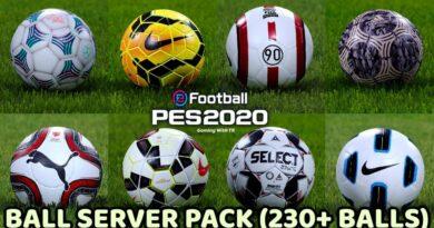 PES 2020 | BALL SERVER PACK | 230+ BALLS | VERSION 10 | DOWNLOAD & INSTALL