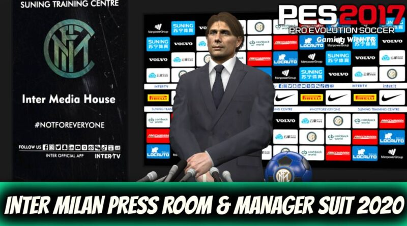 PES 2017 | INTER MILAN PRESS ROOM & MANAGER SUIT 2020 | DOWNLOAD & INSTALL