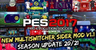 PES 2017 | NEW MULTISWITCHER SIDER MOD V1.1 | SEASON UPDATE 20/21 | DOWNLOAD & INSTALL
