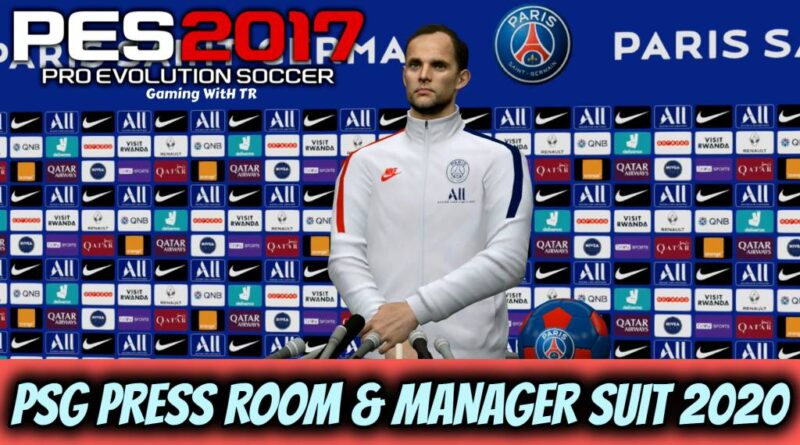 PES 2017 | PSG PRESS ROOM & MANAGER SUIT 2020 | DOWNLOAD & INSTALL