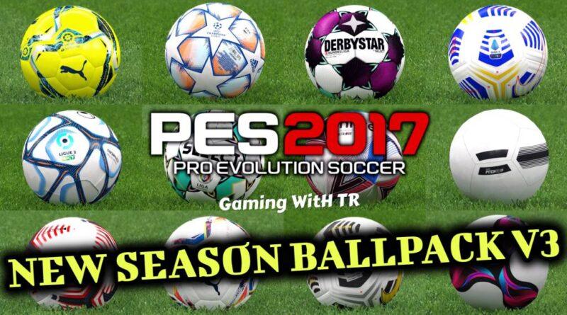 PES 2017   NEW SEASON BALLPACK V3   SEASON UPDATE 20/21   DOWNLOAD & INSTALL
