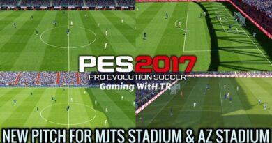 PES 2017   NEW PITCH FOR MJTS STADIUM & AZ STADIUM   DOWNLOAD & INSTALL