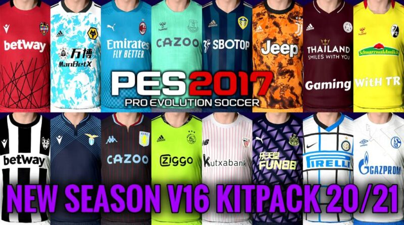 PES 2017 | NEW SEASON KITPACK 2020/2021 | ALL IN ONE V16 | DOWNLOAD & INSTALL