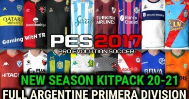 PES 2017 | NEW SEASON KITPACK 20-21 | FULL ARGENTINE PRIMERA DIVISION | DOWNLOAD & INSTALL
