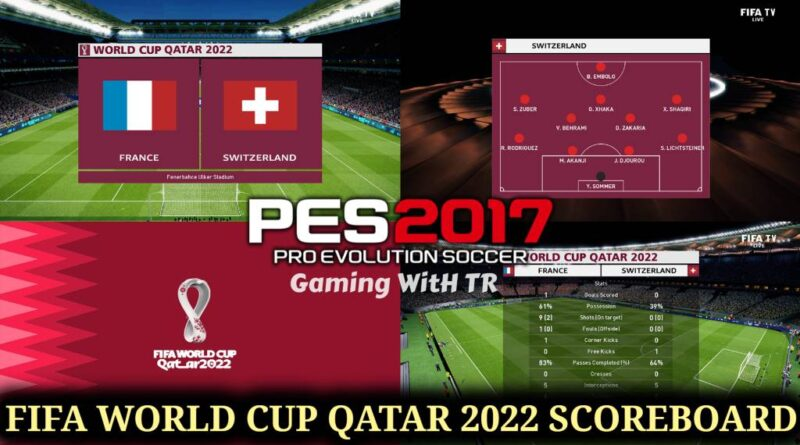 PES 2017 | FIFA WORLD CUP QATAR 2022 SCOREBOARD | DOWNLOAD & INSTALL