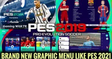 PES 2019 | BRAND NEW GRAPHIC MENU LIKE PES 2021 | SEASON UPDATE 20-21 | DOWNLOAD & INSTALL