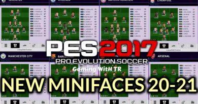 PES 2017 | NEW MINIFACES 20-21 | 12 TEAMS | DOWNLOAD & INSTALL
