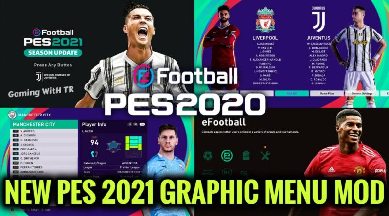 PES 2020 | NEW PES 2021 GRAPHIC MENU MOD | SEASON UPDATE 20-21 | DOWNLOAD & INSTALL