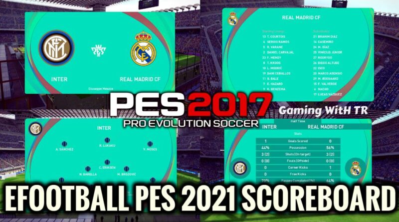 PES 2017 | LATEST EFOOTBALL PES 2021 SCOREBOARD | DOWNLOAD & INSTALL